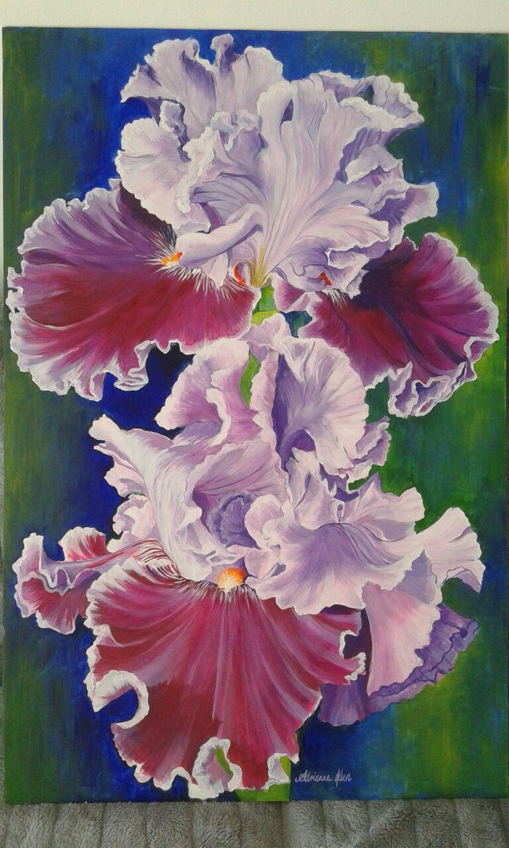 Iris 105x70cm acrilico