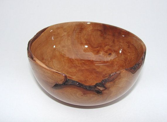 Wood turned bowl  pear tree burl by NOviWood on Etsy, $20.00
