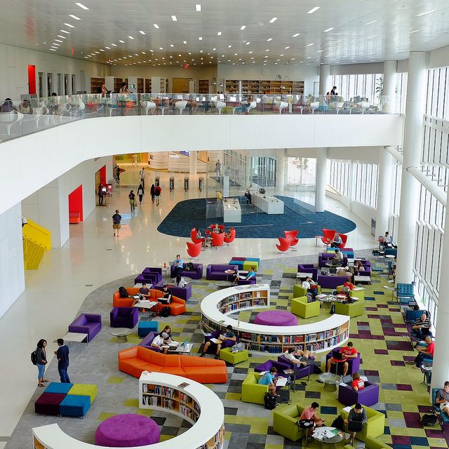 James V Hunt Library At North Carolina State University Rain Garden Reading Lounge By Mal