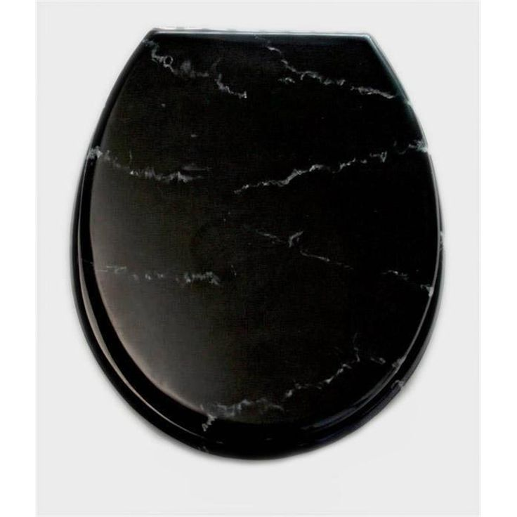 Loo With A View 2 Piece Marble Black Toilet Seat