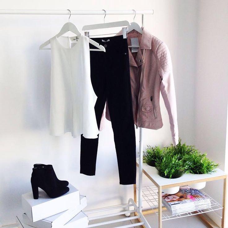 JACKET BIKER PINK PASTEL I MONASHE.PL - Sklep online z modna odzieza.