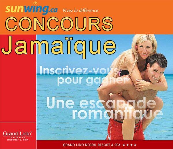 Concours SUNWING un Voyage pour 2 en Jamaique à GAGNER