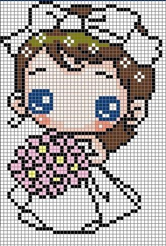 Cute Bride Hama Perler Bead Pattern