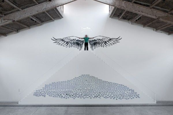 Moataz Nasr, I am Free, 2012, interactive site specific installation, 840 x 1640 x 84 cm. Galleria Continua Beijing, 2012. Photo by Oak Taylor-Smith.