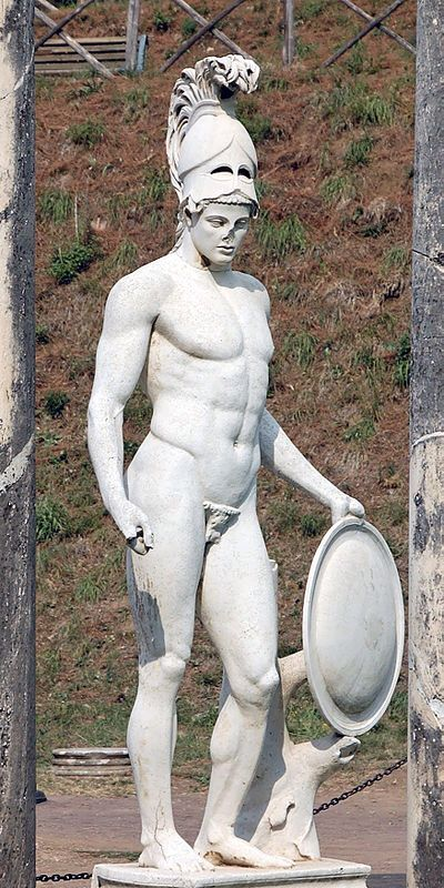 Ares, son of Zeus and Hera. Identified as the god of war, Ares really is the god of the struggle understood as bloodlust and violence. Ares: Villa Adriana Tivoli - Roma