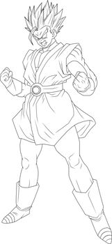 Super Saiyan 2 Great Saiyaman Lineart by BrusselTheSaiyan
