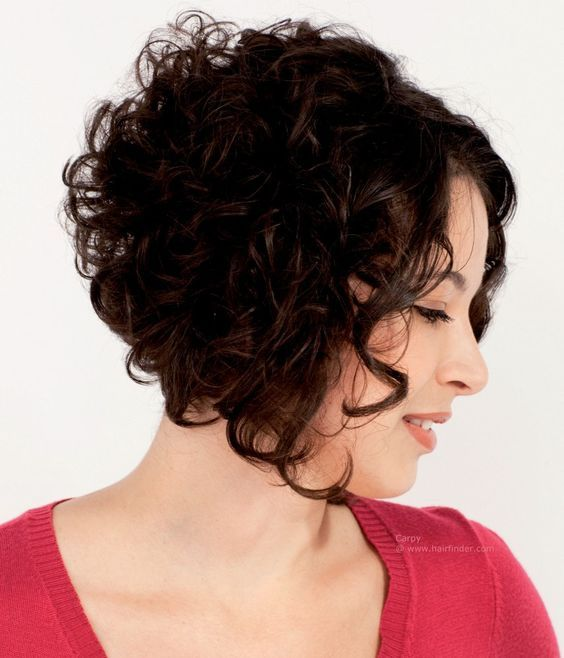 curly stacked bobs ideas
