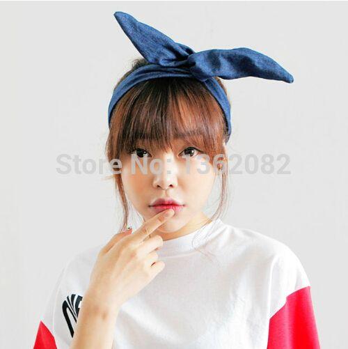 Cute Denim Headband Ideas