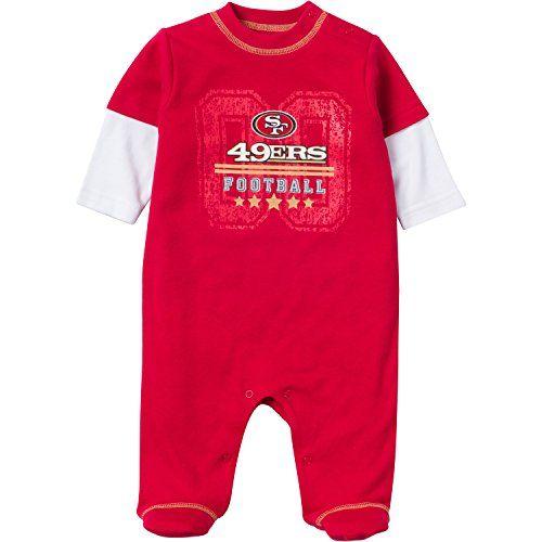 5b41f3c2573 Gerber Childrenswear NFL San Francisco 49ers Sleep  N Play Bodysuit 0-3  Months Red