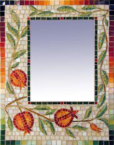 Mosaic pomegranate #mirror #mosaic frame