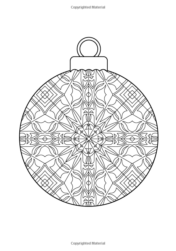 intricate christmas coloring pages - photo#42
