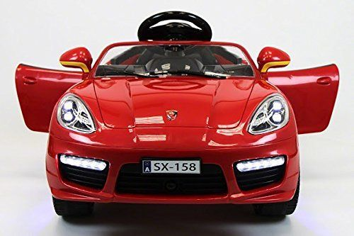 2016 Red Porsche Boxster Style Power Wheels for Kids 12V Ride on Toy with Parent Remote Control