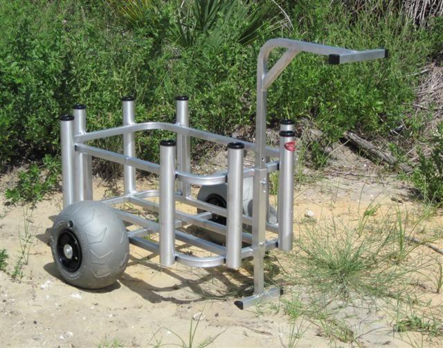 Beach Cart Surf Cart Fishing Cart Rod Holder W Wheeleez