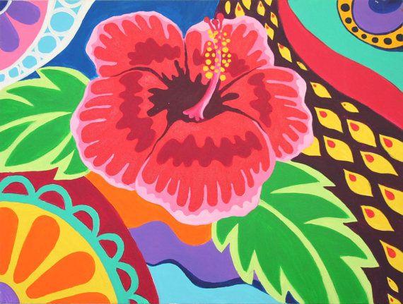 Hybiscus, Acrilic on Canvas by Anita Romeo paintings. www.anitaromeo.com