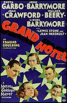 Grand Hotel is a 1932 American drama film directed by Edmund Goulding. The screenplay by William A. Drake and Béla Balázs is based on the 1930 play of the same title by Drake, who had adapted it from the 1929 novel Menschen im Hotel by Vicki Baum. The film is the only one to have won the Academy Award for Best Picture without it or its participants being nominated in any other category.