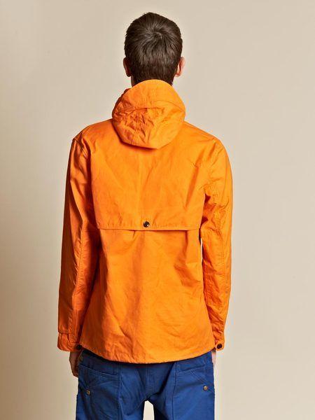 Junya Watanabe Wax Canvas Three Quarter Length Placket Hooded Coat in Orange for Men - Lyst