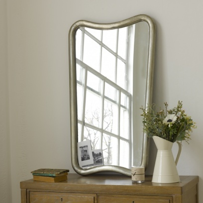 VENICE. This is based on a stunning 1930s mirror that Charlie found on a trip to Venice. Covered in hand-beaten white metal it works brilliantly with both a classic French or retro look, or even paired with more ethnic surroundings. Shake it up a little.