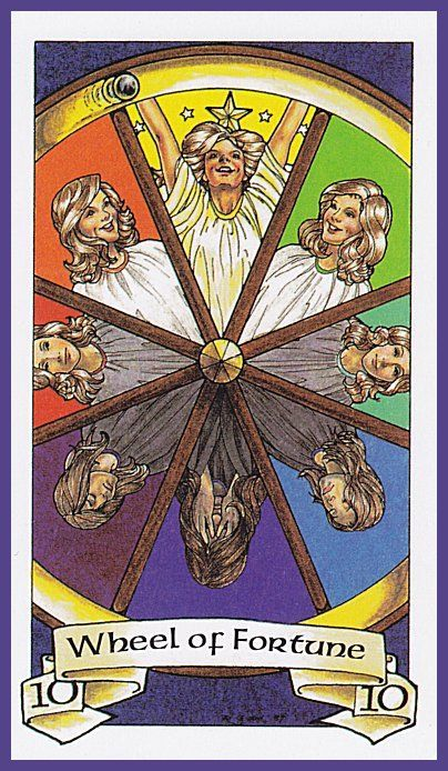X. The Wheel of Fortune - Robin Wood Tarot by Robin Wood