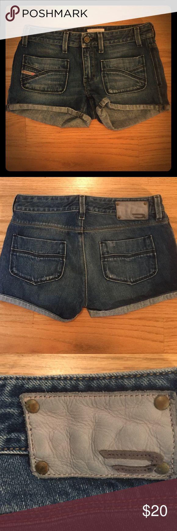 Women's diesel shorts size 25 Diesel denim shorts size 25 Diesel Shorts Jean Shorts