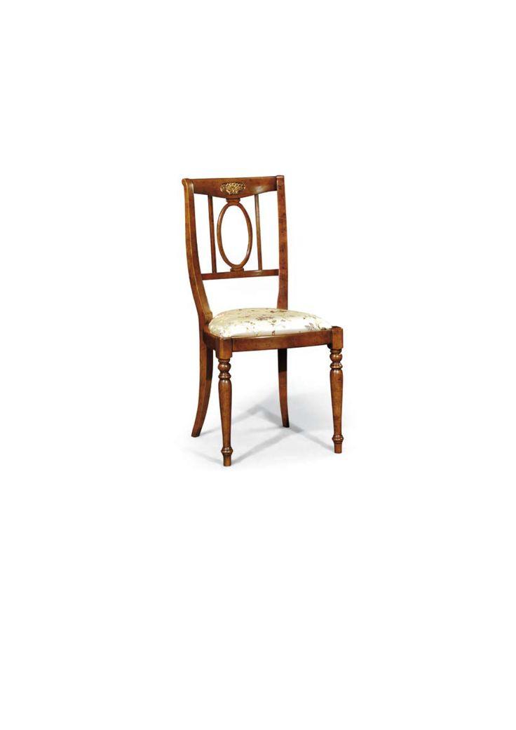 Scaun din lemn masiv art 509s Upholstered Chair Meggoirini Santino Collection