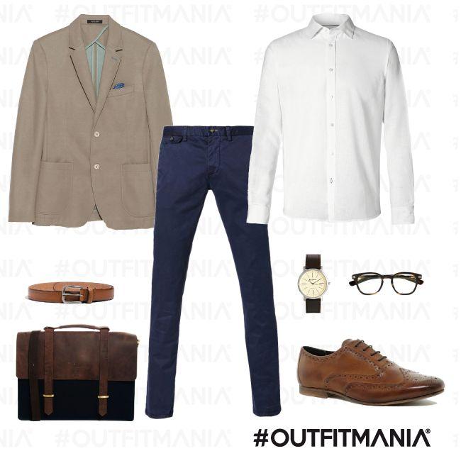 Un colloquio di lavoro per lui | Un'alternativa al classico abito scuro può essere uno spezzato... | #outfitmania #outfit #style #fashion #dresscode #amazing #man #job #asos #occhiali #colloquio #giacca #sisley #bensherman #camicia #zara | CLICCA SULLA FOTO PER SCOPRIRE L'OUTFIT E COME ACQUISTARLO