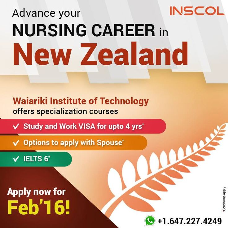 Great Opportunity for Nurses to Study & Work in New Zealand! Apply now for Feb'16 intake.