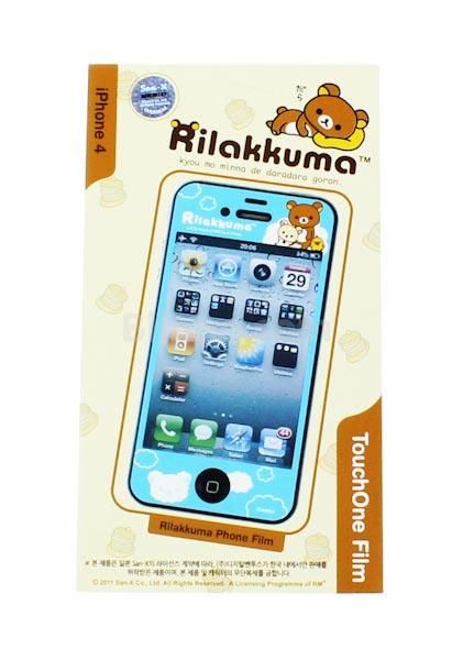 with this cute rilakkuma phone film set you can decorate your iphone 4 or 4s rilakkuma. Black Bedroom Furniture Sets. Home Design Ideas