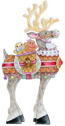 Reindeer decked out with Gingerbread. Artist Ronnie Rooney