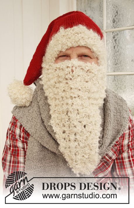 "The 2nd door of #DROPS #Christmas #Calendar can now be opened! DROPS Extra 0-875 by DROPS Design: Knitted DROPS Santa's hat and scarf in ""Nepal"" and beard in ""Puddel""."