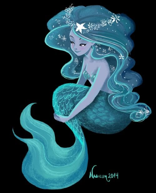 blue mermaid by Nabilum