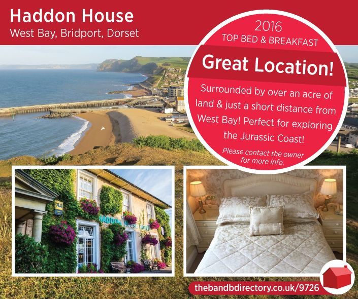 Haddon House, West Bay, Bridport, Dorset, UK, England. Bed and Breakfast. Staycation. Travel. Children Welcome. Dinner Available. Wifi. Jurassic Coast. Golf Nearby. Walking.