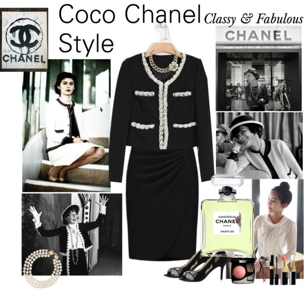 """""""New Autum Arrival with Coco Chanel Style"""" by cj-dunkle ❤ liked on Polyvore"""