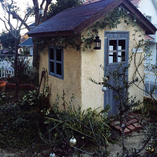 What a sweet little garden shed