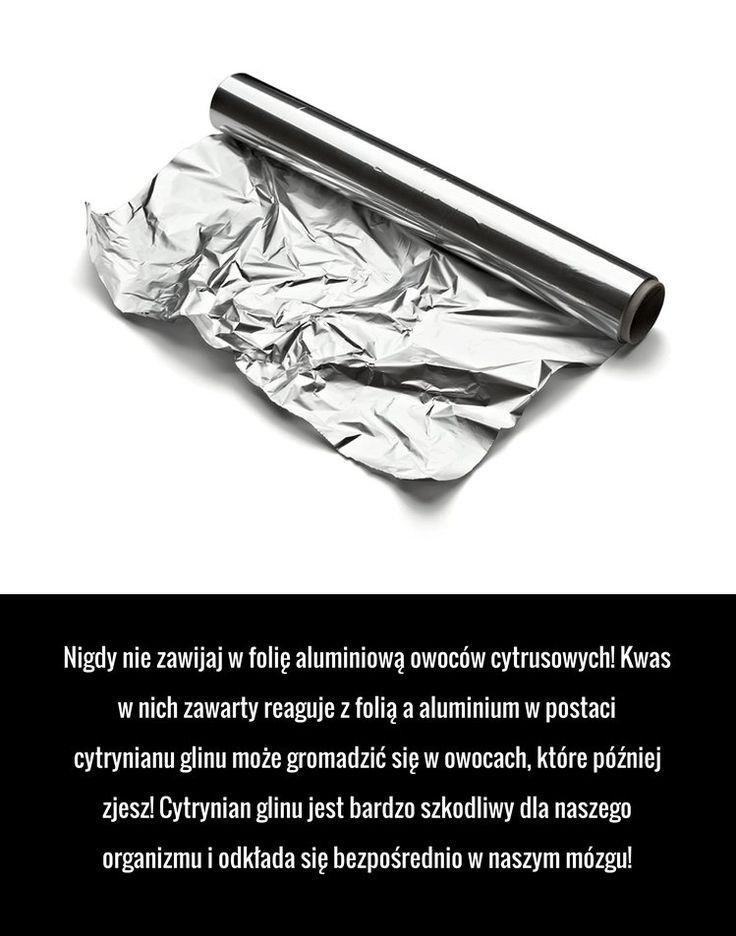 Nigdy nie rób tego z folią aluminiową