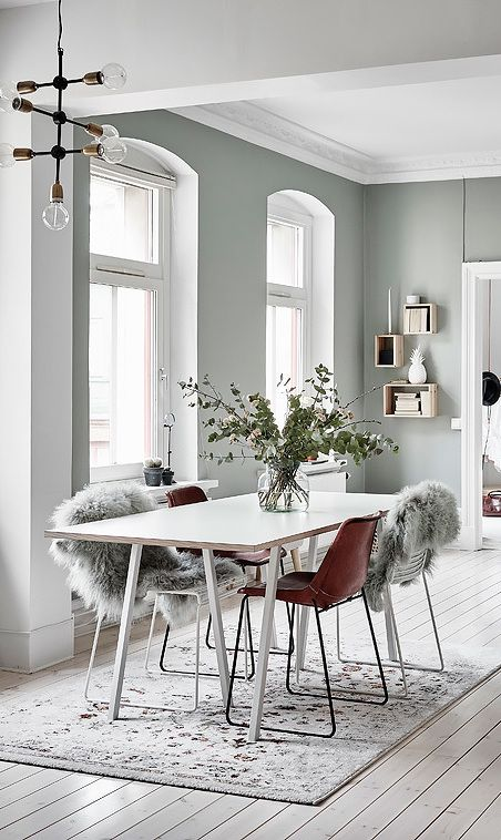 White inspiration for a Scandinavian interior