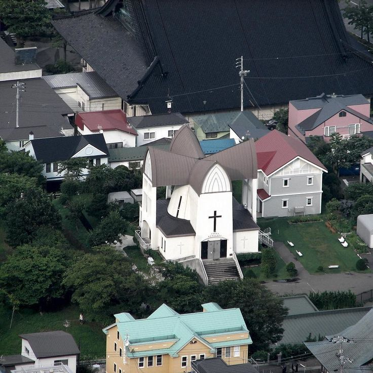 Iglesia Episcopal de Hakodate. Hakodate Episcopal Church. Hakodate 函館 2007-08-07