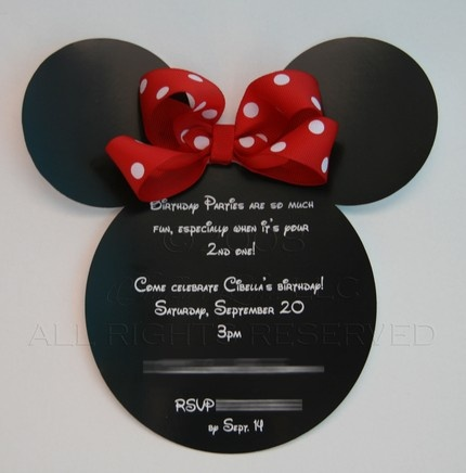 These Minnie Mouse invites could be cahnged into cute journal blocks or tags on a a scrapbook page!