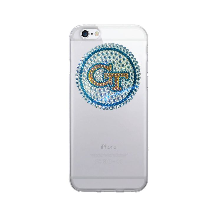 Georgia Institute of Technology University Clear Phone Case, Swarovski Medallion - iPhone 6/6S