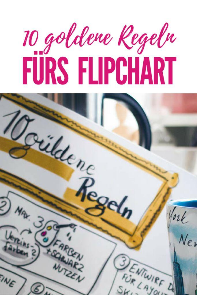 Sandra Dirks - 10 Regeln für das Flipchart - Pinterest Foto