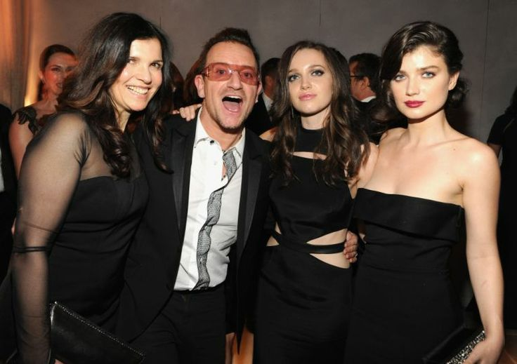 Family photo of the artist, married to Alison Hewson, famous for U2.