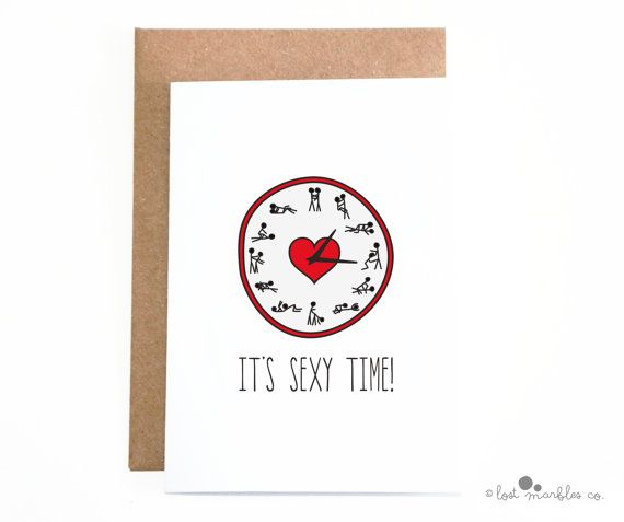 Sexy Valentines Card  Anniversary Card  Adult Card by Lost Marbles Co