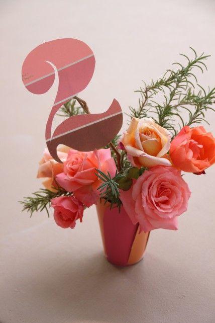 Shades of Pink: Justina Blakeney's Table Numbers - The Bride's Guide : Martha Stewart Weddings