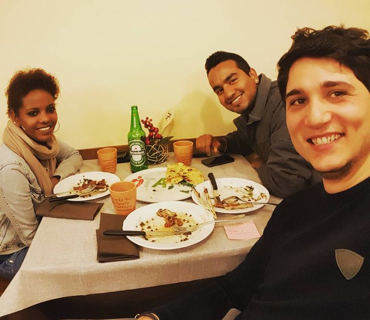 @raman @gelila eating some #delicious dishes ... Cheers to our #friendship