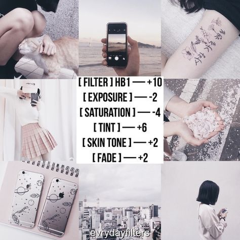 VSCO Cam Filter Settings for Instagram Photos | Faded Pink Filter HB1