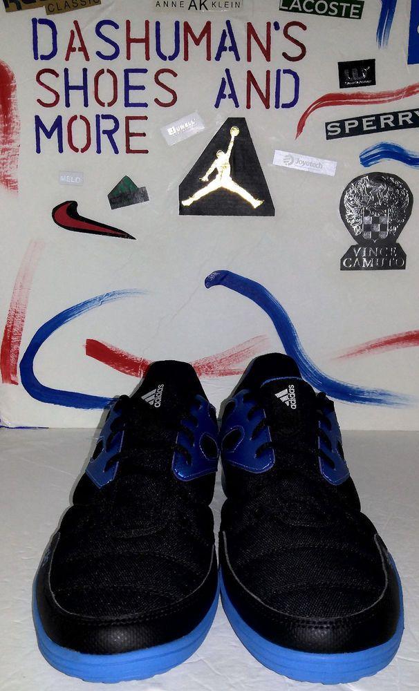Adidas Messi 4 ST Indoor Football Trainers,,Men`s Size 8.5,,Black/Solar Blue #Adidas #IndoorFootball