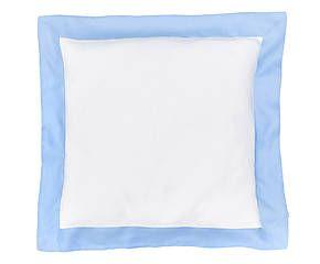Cuscino arredo in puro lino Alain azzurro - 50x50 cm