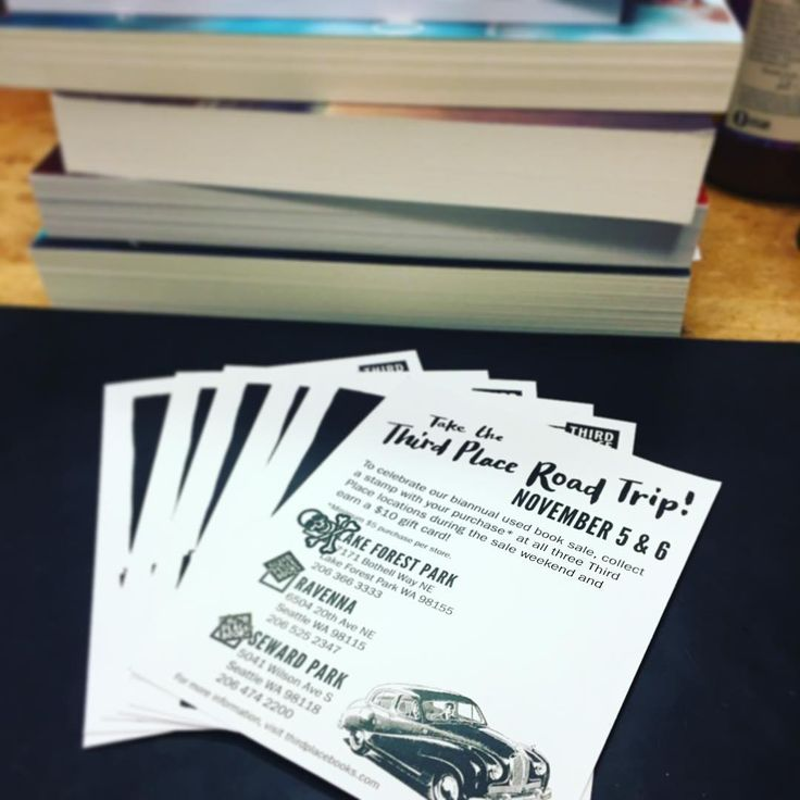 If you drove to all three #ThirdPlaceBooks location this weekend and completed your road trip passport, we love ya and we're so impressed at your traffic-battling skills! 💫  #bookstagram #thirdplacebooks #ravennatpb
