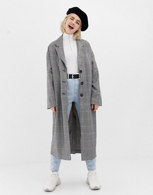 a713adbce82 COLLUSION oversized check overcoat in 2019
