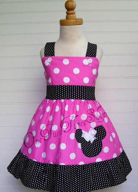 Custom Boutique Clothing Minnie Mouse Jumper  Dress by amacim, $29.99