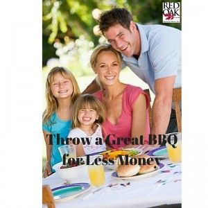 Save Money and still have a great outdoor party!  Read out Blog post filled with creative ideas:  Throw a Great BBQ for Less Money